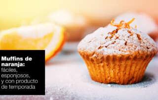 Muffins de naranja fáciles, esponjosos y ¡de temporada! | FAGOR SDA Electrodomésticos Pequeños