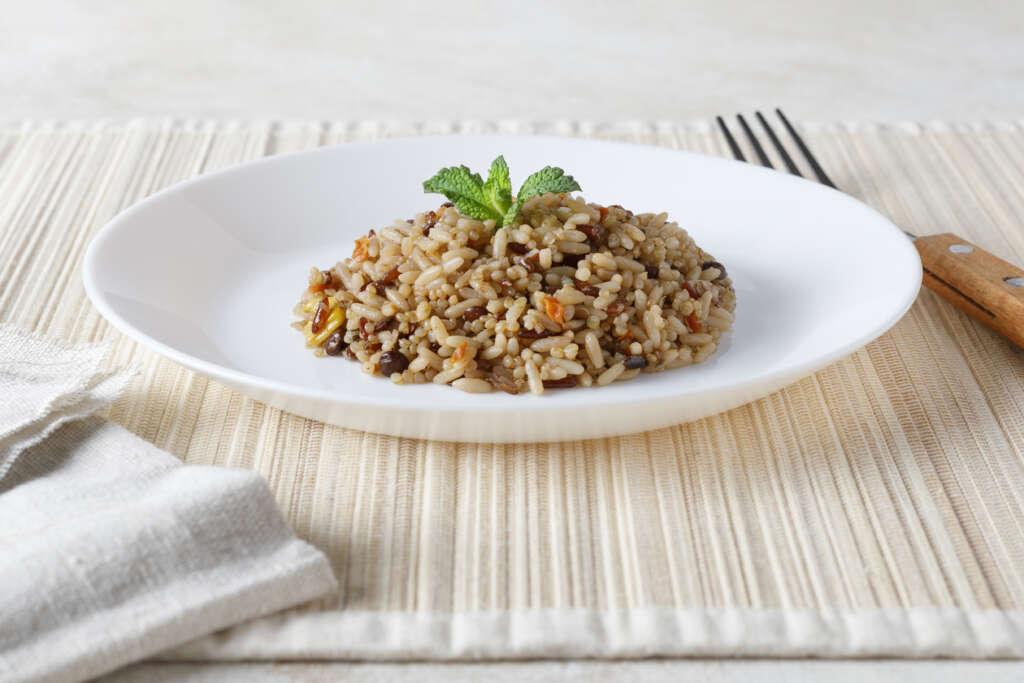 Receta FamilyCook: Ensalada de lentejas y arroz